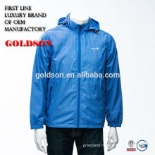 Men sports jacket with waterproof and softshell fabric